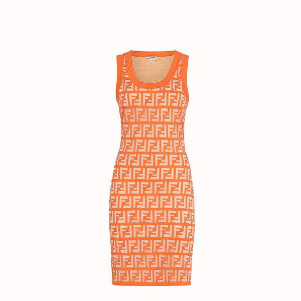 FENDI DRESS - Orange cotton dress - view 1 small thumbnail
