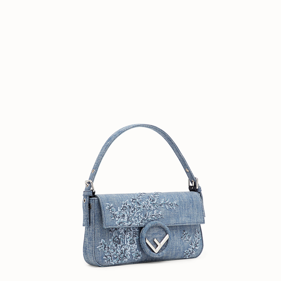 FENDI BAGUETTE - Blue denim bag - view 2 detail