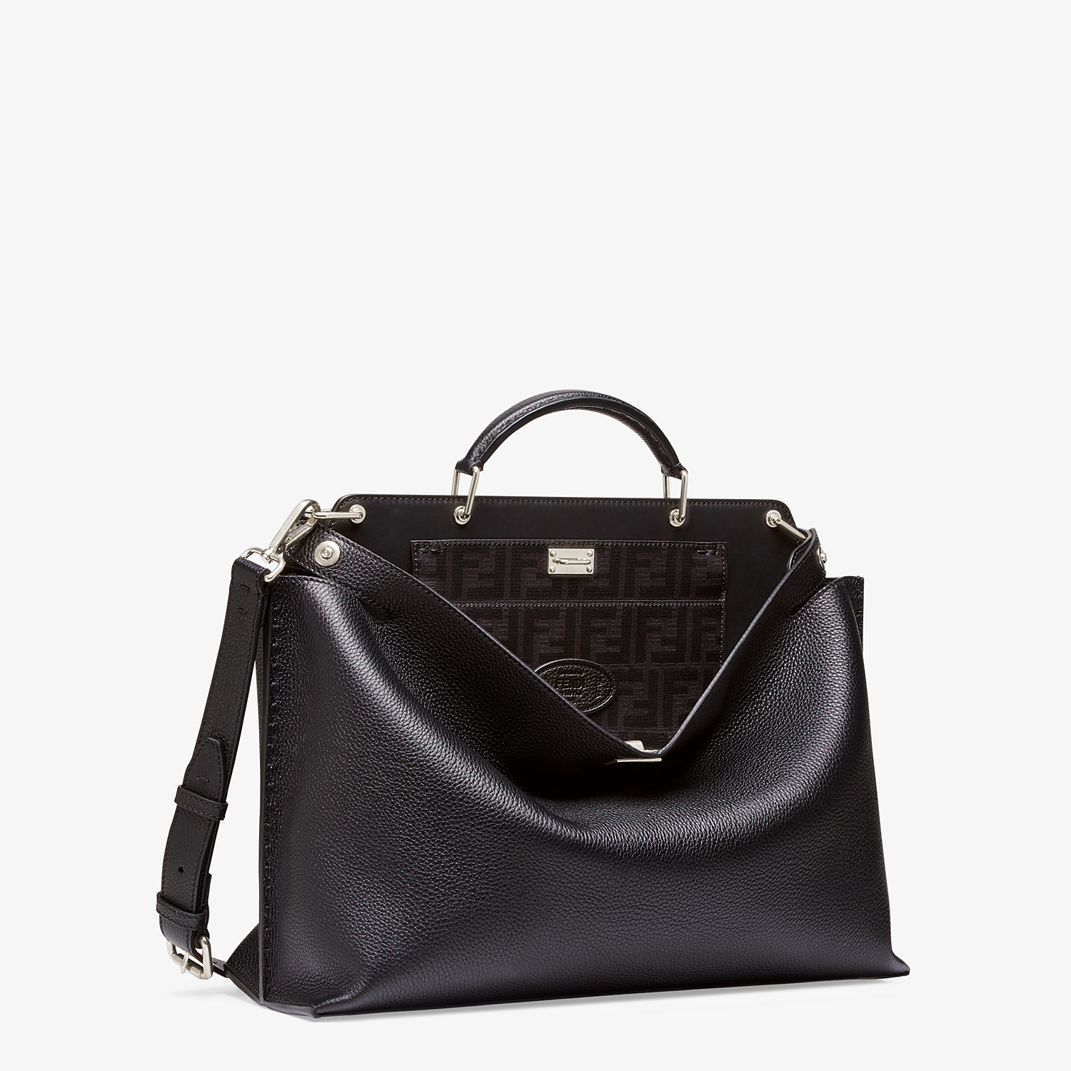 FENDI PEEKABOO ICONIC ESSENTIAL - Tasche aus Leder in Schwarz - view 2 detail