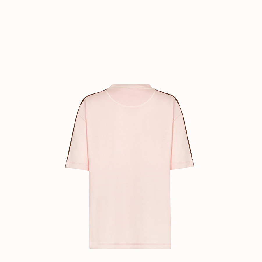 FENDI T-SHIRT - Pink cotton jersey T-shirt - view 2 detail