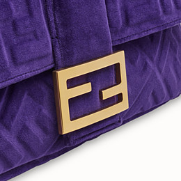 FENDI BAGUETTE LARGE - Purple velvet bag - view 5 thumbnail