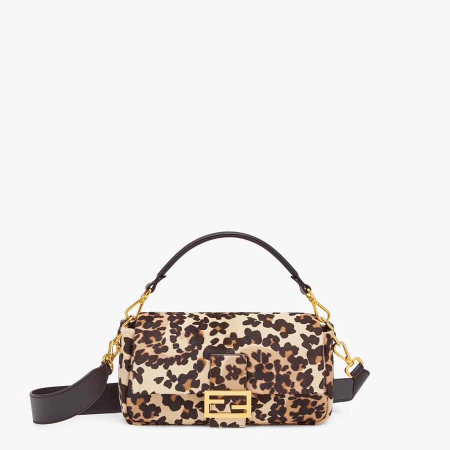 FENDI BAGUETTE - Short-haired beige leather bag - view 1 detail