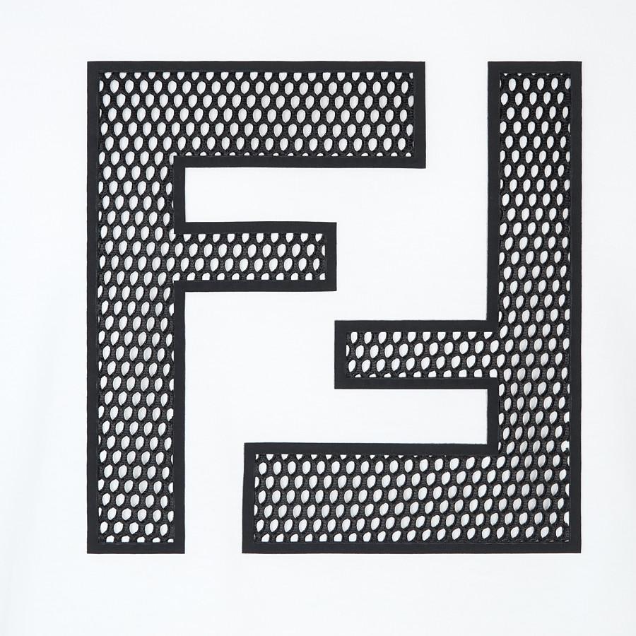 FENDI T-SHIRT - T-Shirt aus Baumwolle in Weiß - view 3 detail