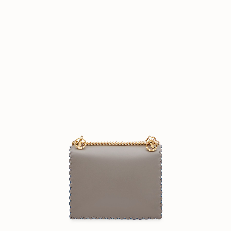 FENDI KAN I SMALL - Mini sac en cuir gris - view 3 detail