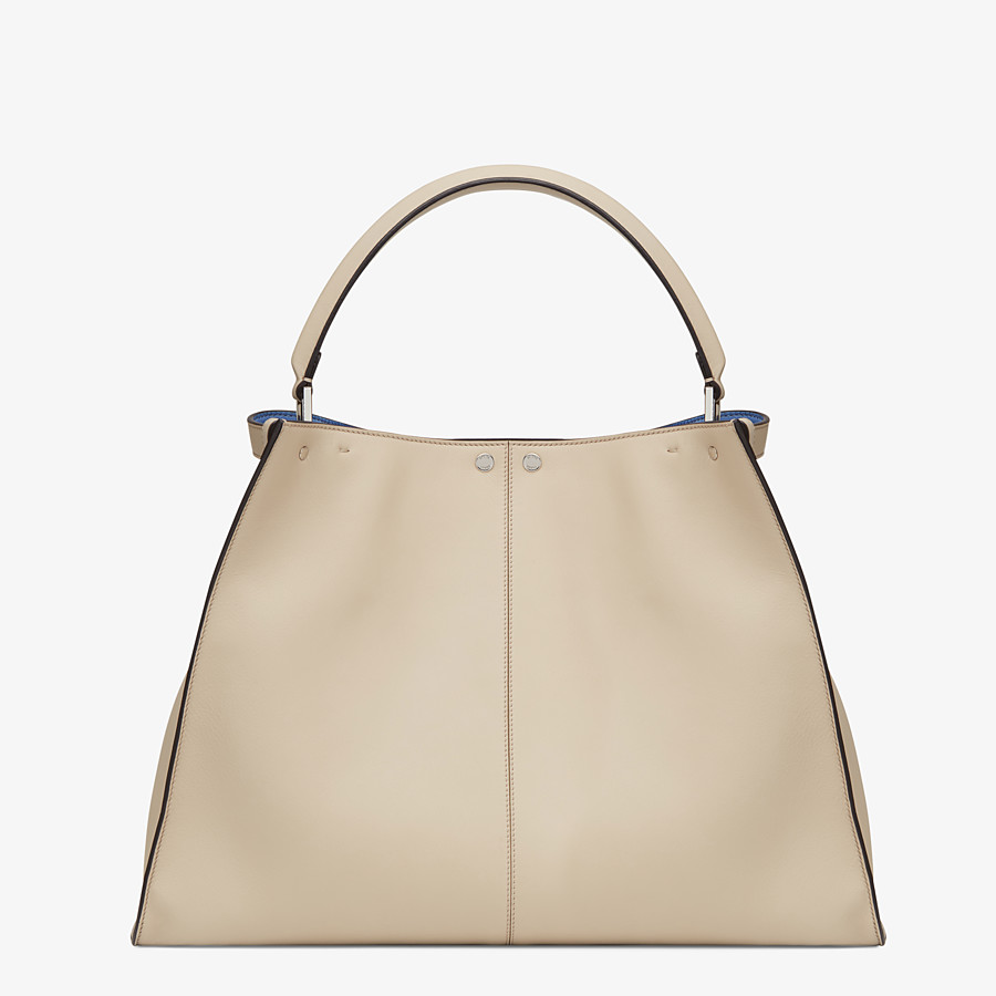 FENDI PEEKABOO X-LITE LARGE - Beige leather bag - view 4 detail