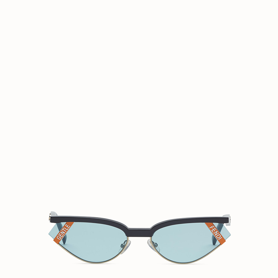 FENDI GENTLE FENDI - Grey and light blue sunglasses - view 1 detail