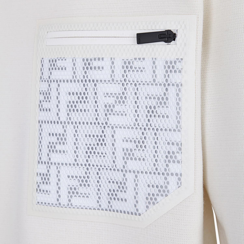 FENDI PULLOVER - Maglia in lana bianca - vista 3 dettaglio