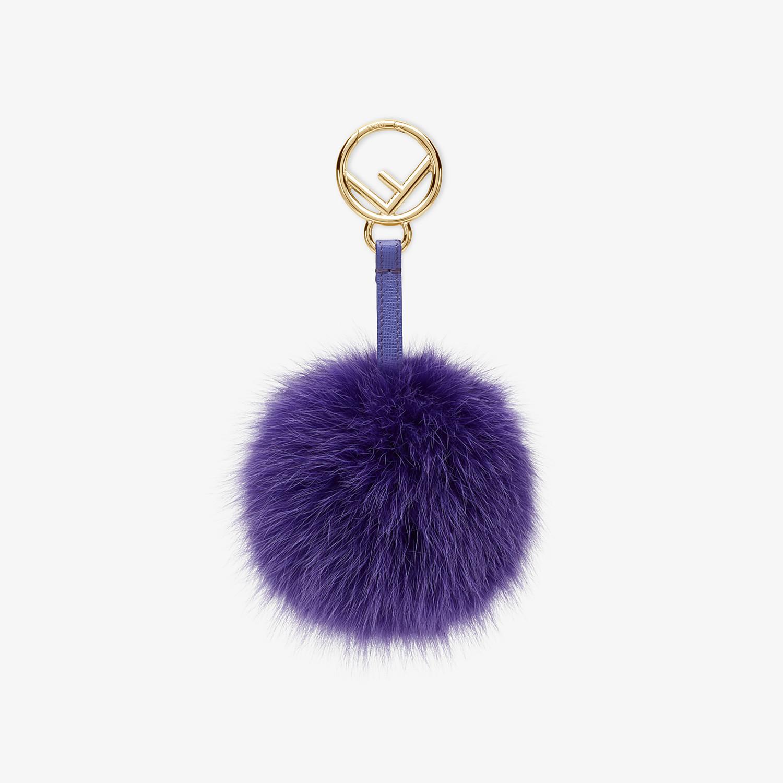 FENDI POM-POM CHARM - Purple fox fur charm - view 1 detail