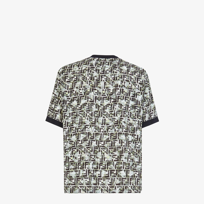 FENDI T-SHIRT - Multicolor viscose T-shirt - view 2 detail