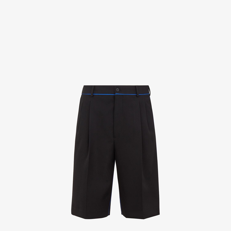 FENDI BERMUDAS - Black wool pants - view 1 detail