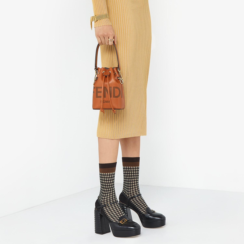FENDI MON TRESOR - Brown leather mini-bag - view 2 detail