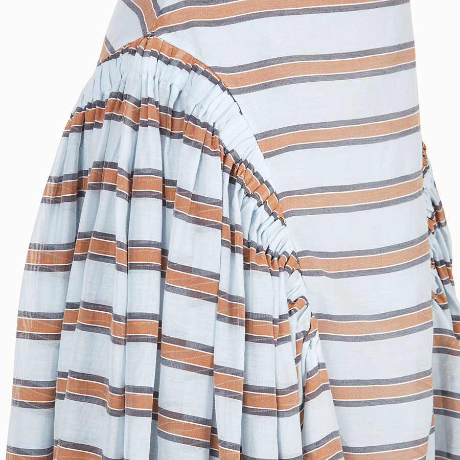 FENDI SKIRT - Light blue silk and cotton skirt - view 3 detail