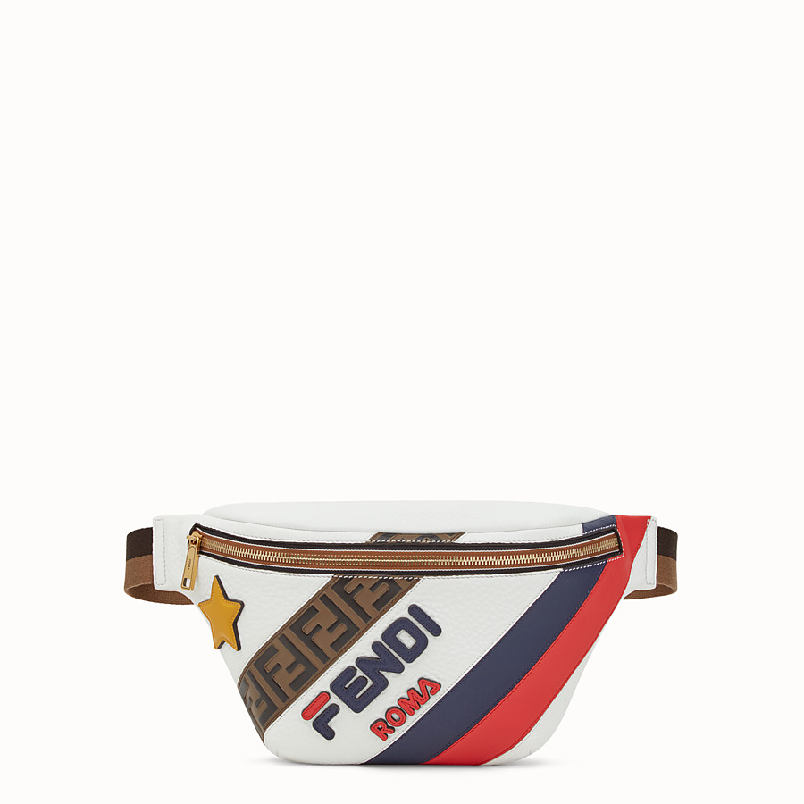FENDI BELT BAG - White leather belt bag - view 1 detail