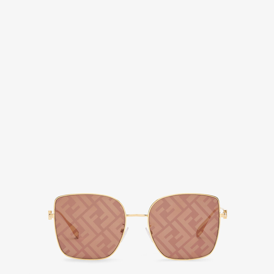 FENDI BAGUETTE - Sunglasses featuring brown lenses with FF logo - view 1 detail