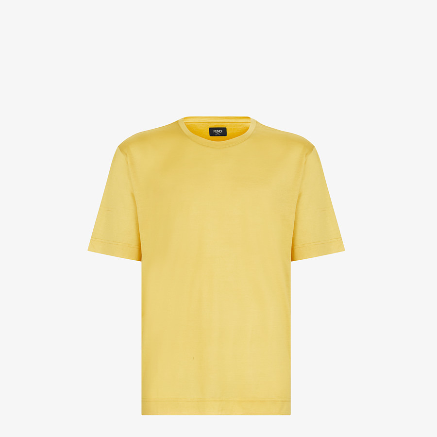 FENDI T-SHIRT - Yellow silk T-shirt - view 1 detail