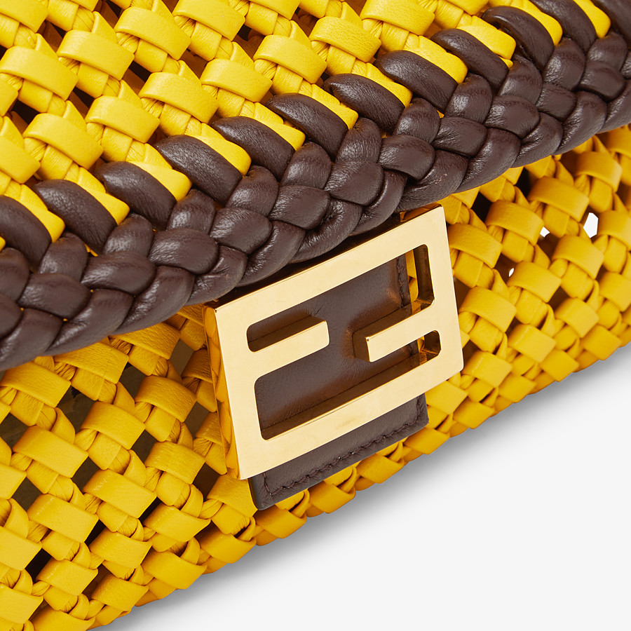FENDI BAGUETTE - Yellow leather interlace bag - view 5 detail