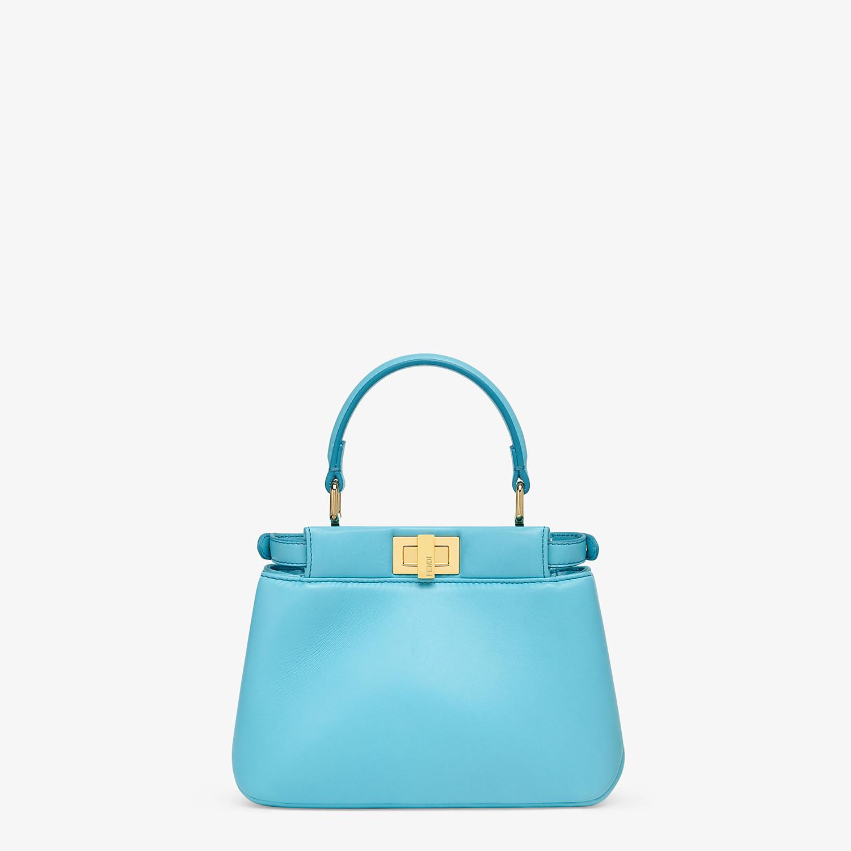 FENDI PEEKABOO ICONIC XS - Light blue nappa leather bag - view 3 detail