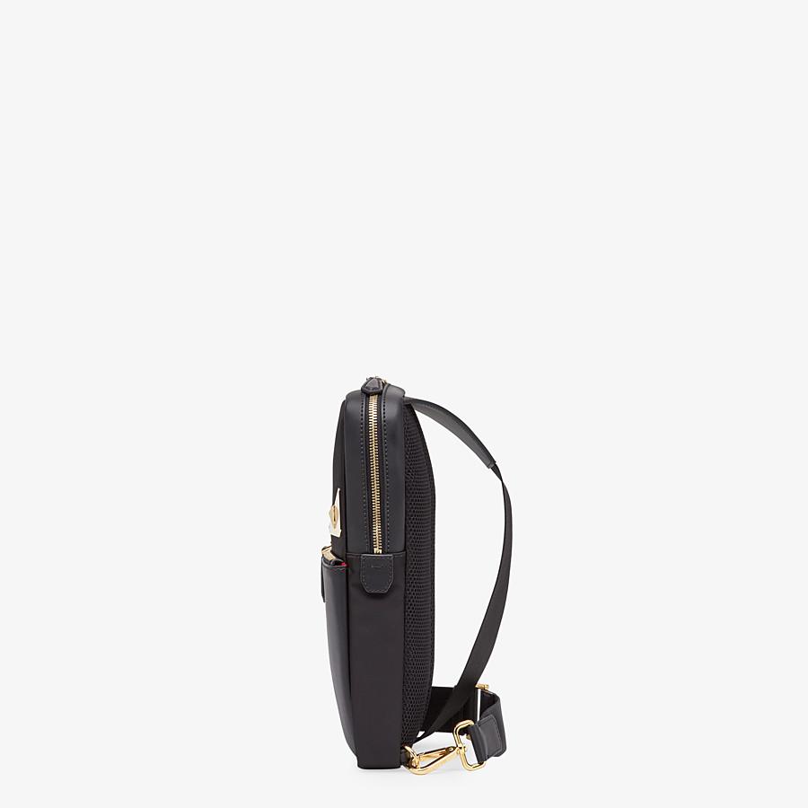 FENDI SAC BANANE - Sac à dos à bretelle simple en nylon noir - view 2 detail
