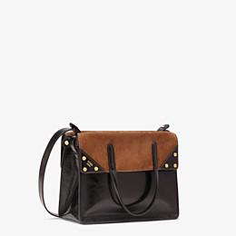 FENDI FENDI FLIP MEDIUM - Black leather bag - view 4 thumbnail