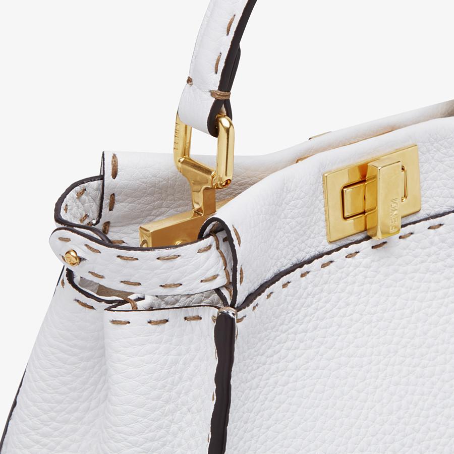 FENDI PEEKABOO ICONIC MINI - White Cuoio Romano leather bag - view 6 detail