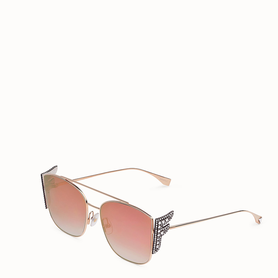 FENDI FFREEDOM - Gold-coloured sunglasses - view 2 detail