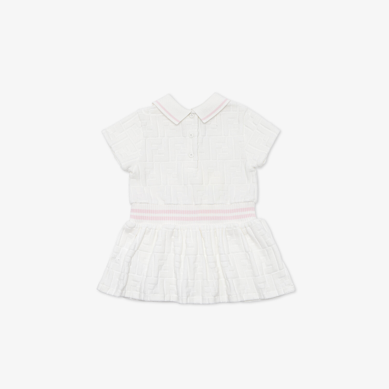 FENDI BABY DRESS - White chenille baby dress - view 2 detail