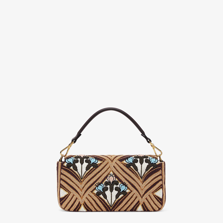 FENDI BAGUETTE - Brown satin bag - view 4 detail