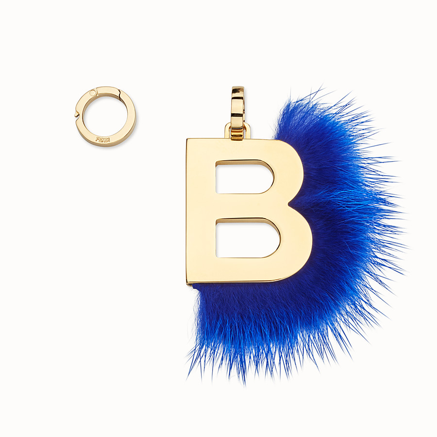 FENDI ABCLICK B - Pendant with blue fur - view 1 detail