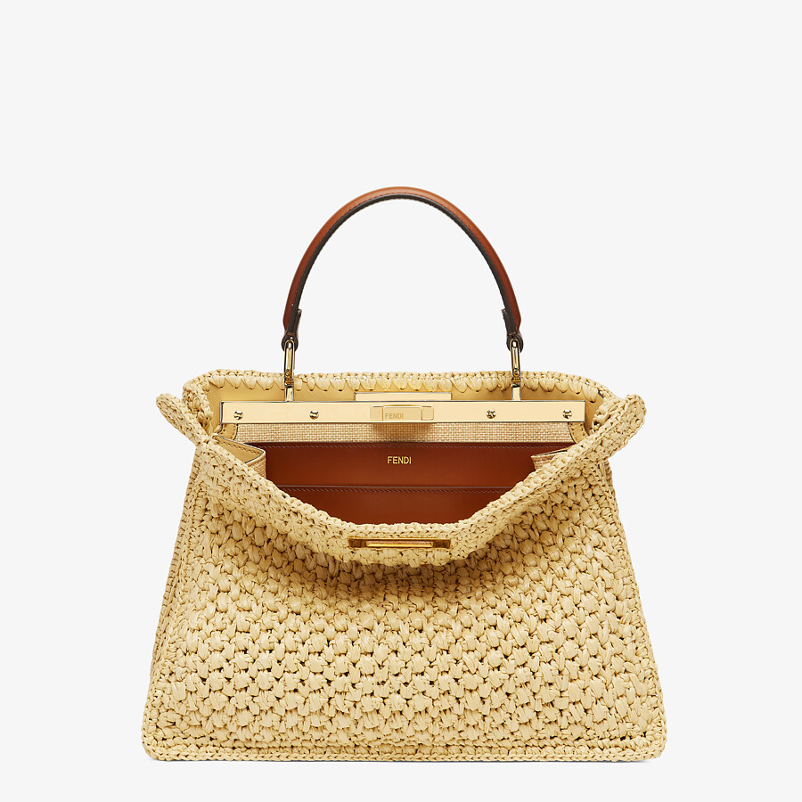 FENDI PEEKABOO ISEEU MEDIUM - Woven straw bag - view 1 detail