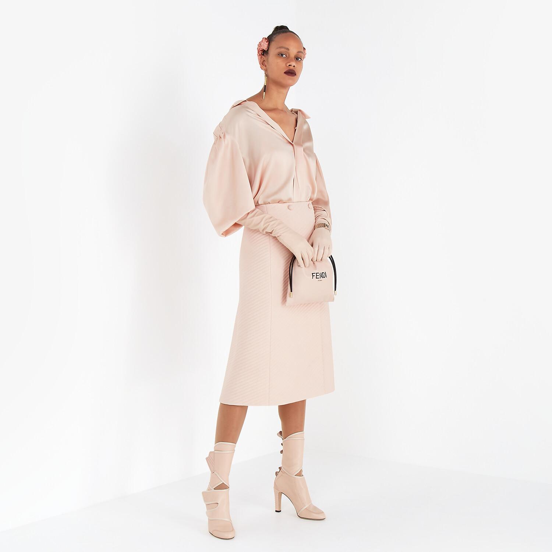 FENDI SHIRT - Pink silk blouse - view 4 detail