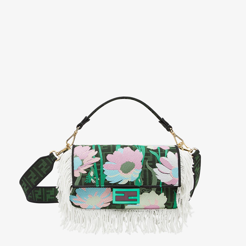 FENDI BAGUETTE - Green fabric bag - view 1 detail