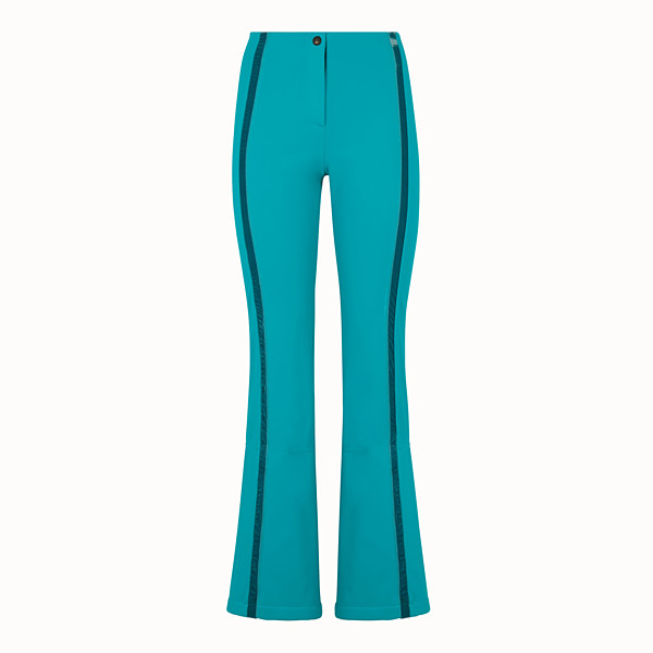 FENDI SKI TROUSERS - Pale blue tech fabric trousers - view 1 small thumbnail
