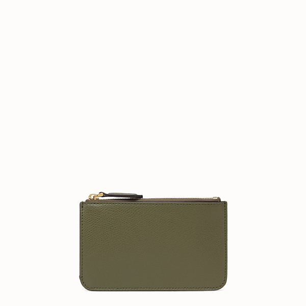 FENDI KEY RING POUCH - Green leather pouch - view 1 small thumbnail