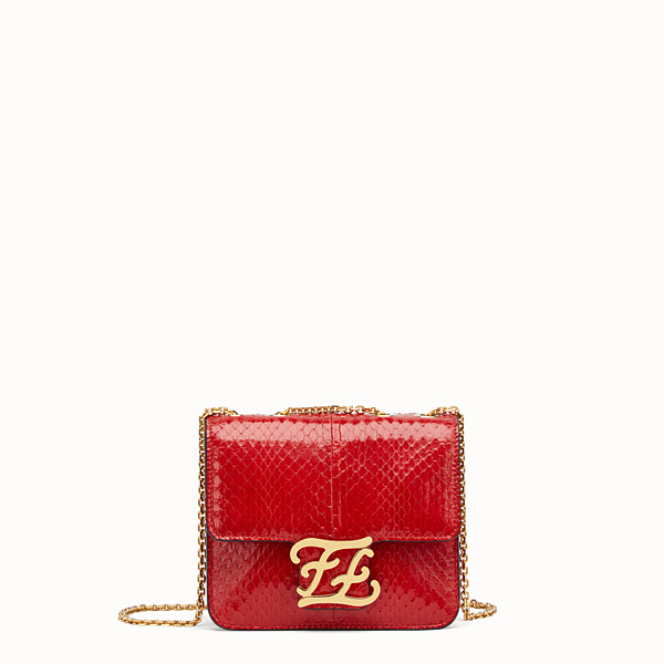 FENDI KARLIGRAPHY - Bag in red elaphe - view 1 small thumbnail