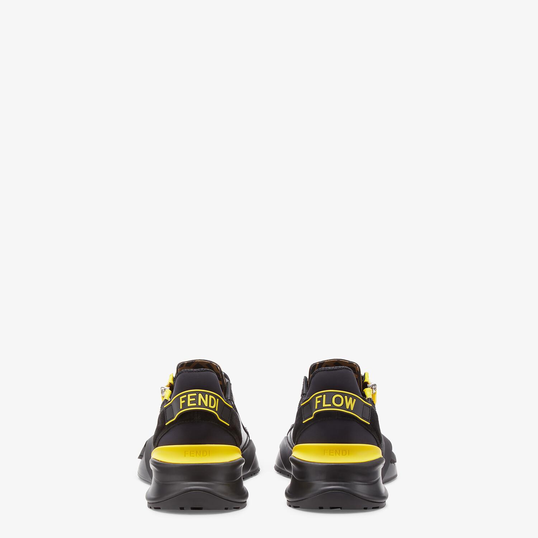 FENDI FENDI FLOW - Black leather low-tops - view 3 detail