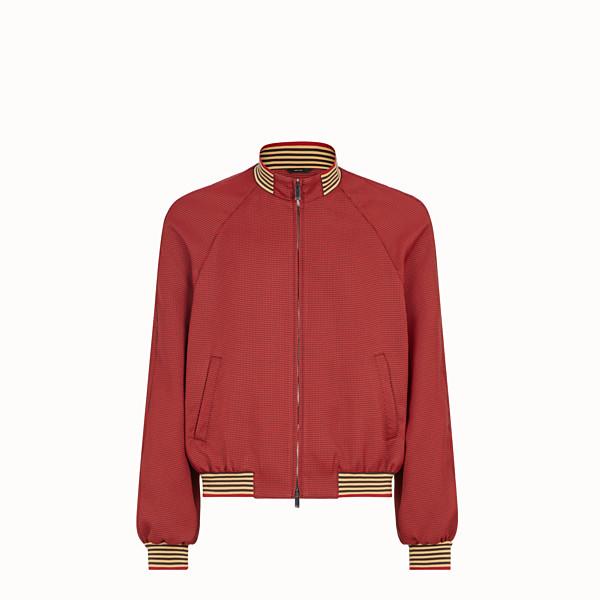 FENDI 束腰短外套 - 紅色布料外套 - view 1 小型縮圖
