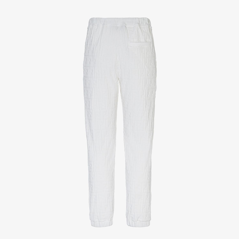 FENDI PANTS - White chenille pants - view 2 detail