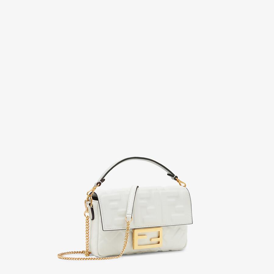FENDI BAGUETTE - White leather bag - view 2 detail