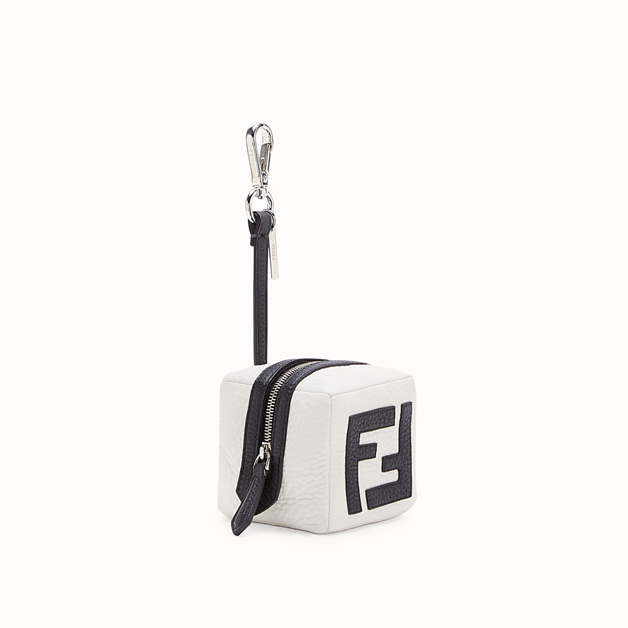 FENDI COIN PURSE - White leather charm - view 1 detail