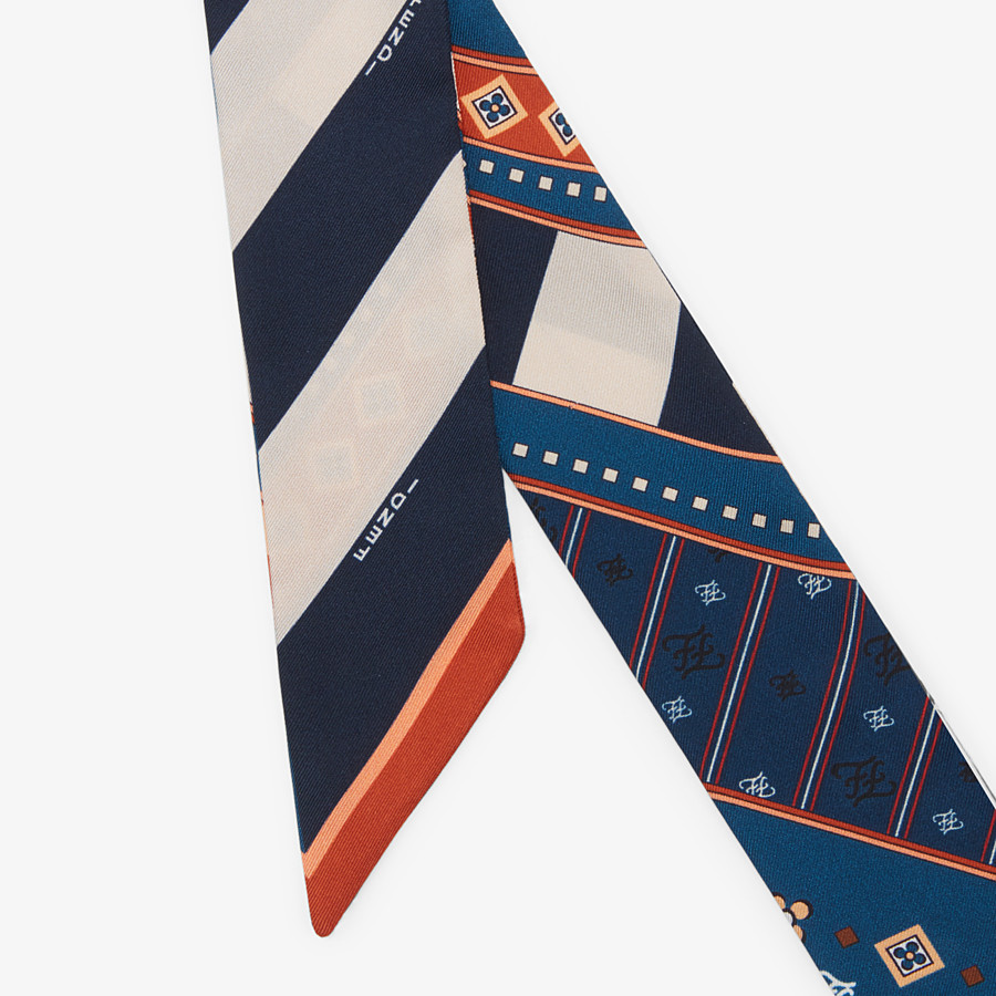 FENDI WRAPPY - Multicolor silk bandeau - view 2 detail