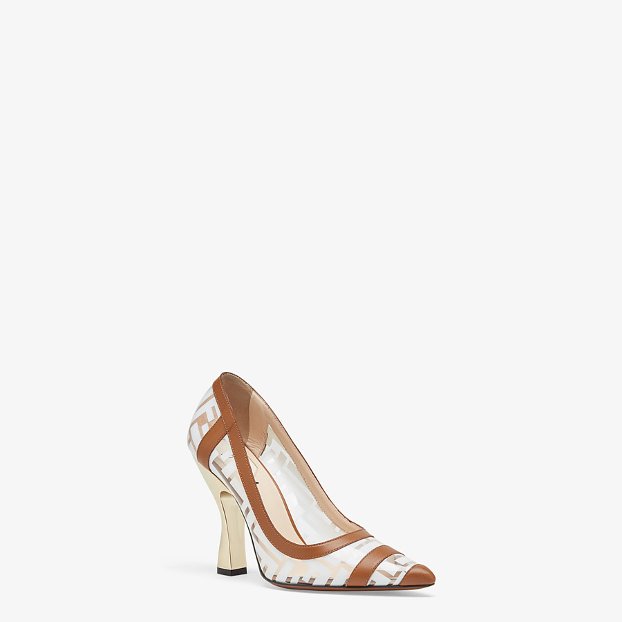 FENDI COURT SHOES - PU and white leather court shoes - view 2 detail