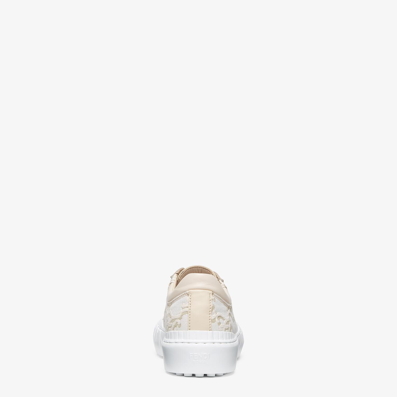 FENDI FENDI FORCE - White fabric low-top sneakers - view 3 detail
