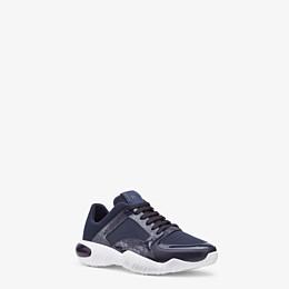 FENDI SNEAKERS - Blue tech fabric sneakers - view 2 thumbnail