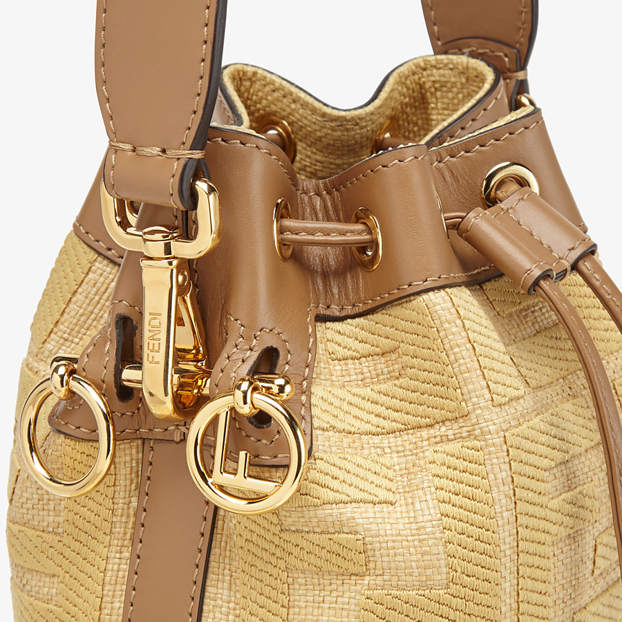 FENDI MON TRESOR - Beige raffia mini bag - view 6 detail