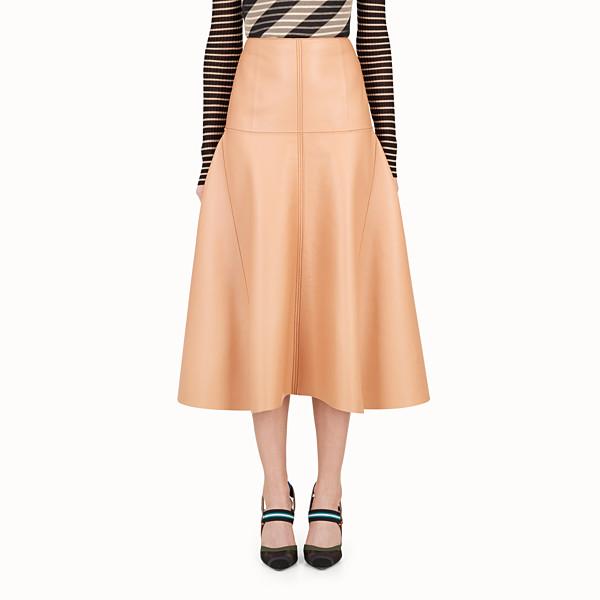 FENDI SKIRT - Pink nappa skirt - view 1 small thumbnail