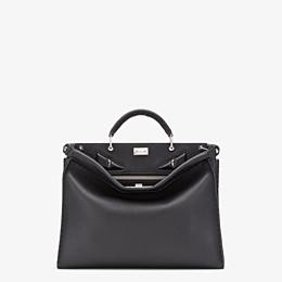 FENDI PEEKABOO ICONIC FIT - Black leather bag - view 1 thumbnail