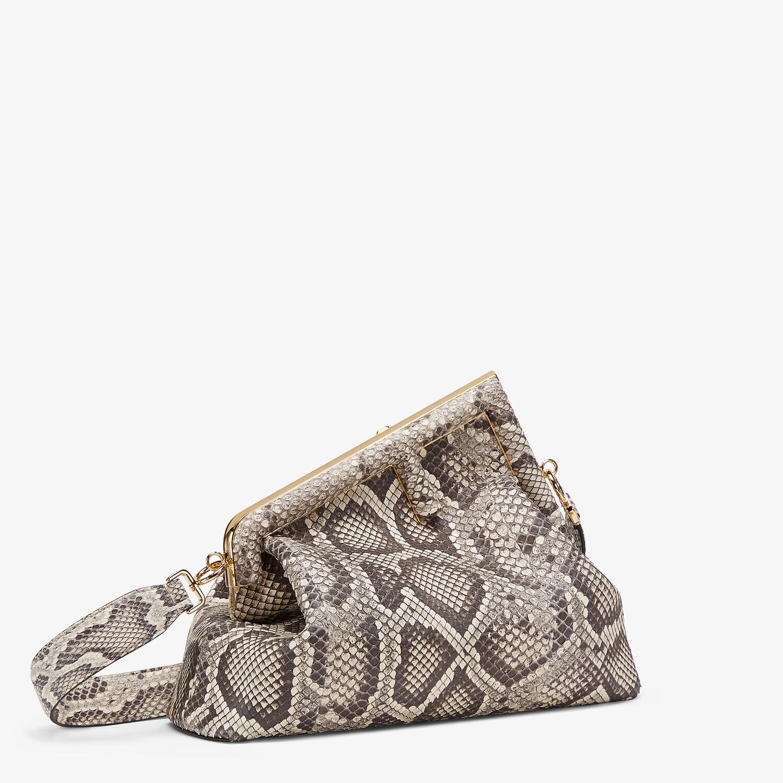 FENDI FENDI FIRST MEDIUM - White python leather bag - view 2 detail