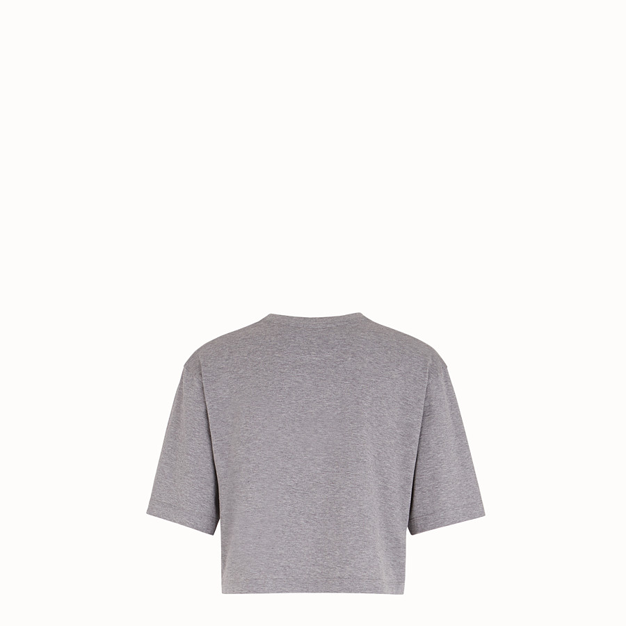 FENDI T-SHIRT - Grey cotton T-shirt - view 2 detail