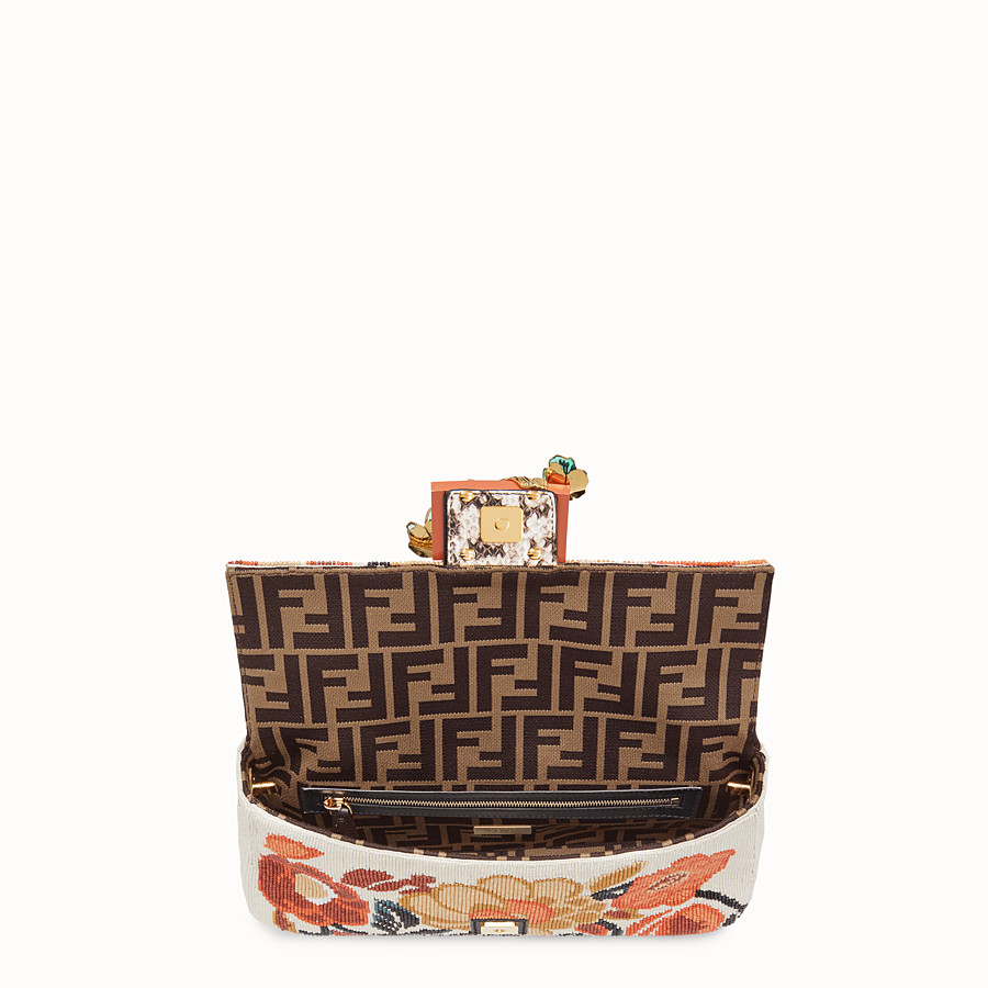 FENDI BAGUETTE - Bag with multicolour embroidery - view 4 detail
