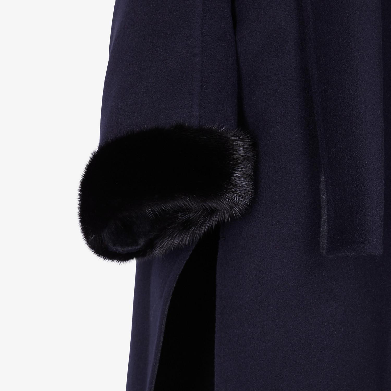 FENDI COAT - Blue cashmere coat - view 3 detail